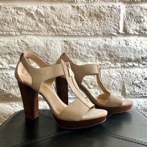 Michael Kors Berkeley Sandal Peep Toe Heel